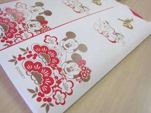 Disney New Year's dishesディズニーおせち「ミッキー&フレンズ四段重」祝箸/ベルメゾンネット